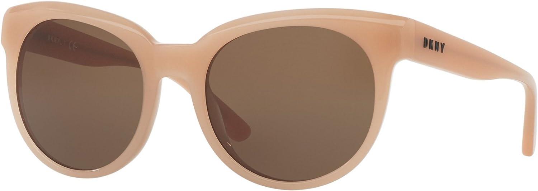 DKNY Women's Acetate Woman Round Sunglasses, bluesh, 53 mm