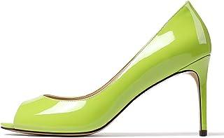elashe- Scarpe da Donna - 8CM Scarpe col Tacco Peep Toe - Scarpe con Tacco Alto Donna
