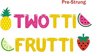 Twotti Frutti Birthday Banner Twotti Fruity Second Fruit Pineapple Watermelon Summer Birthday Party Supplies Decorations Fruit Themed Baby Girl Summer Decor
