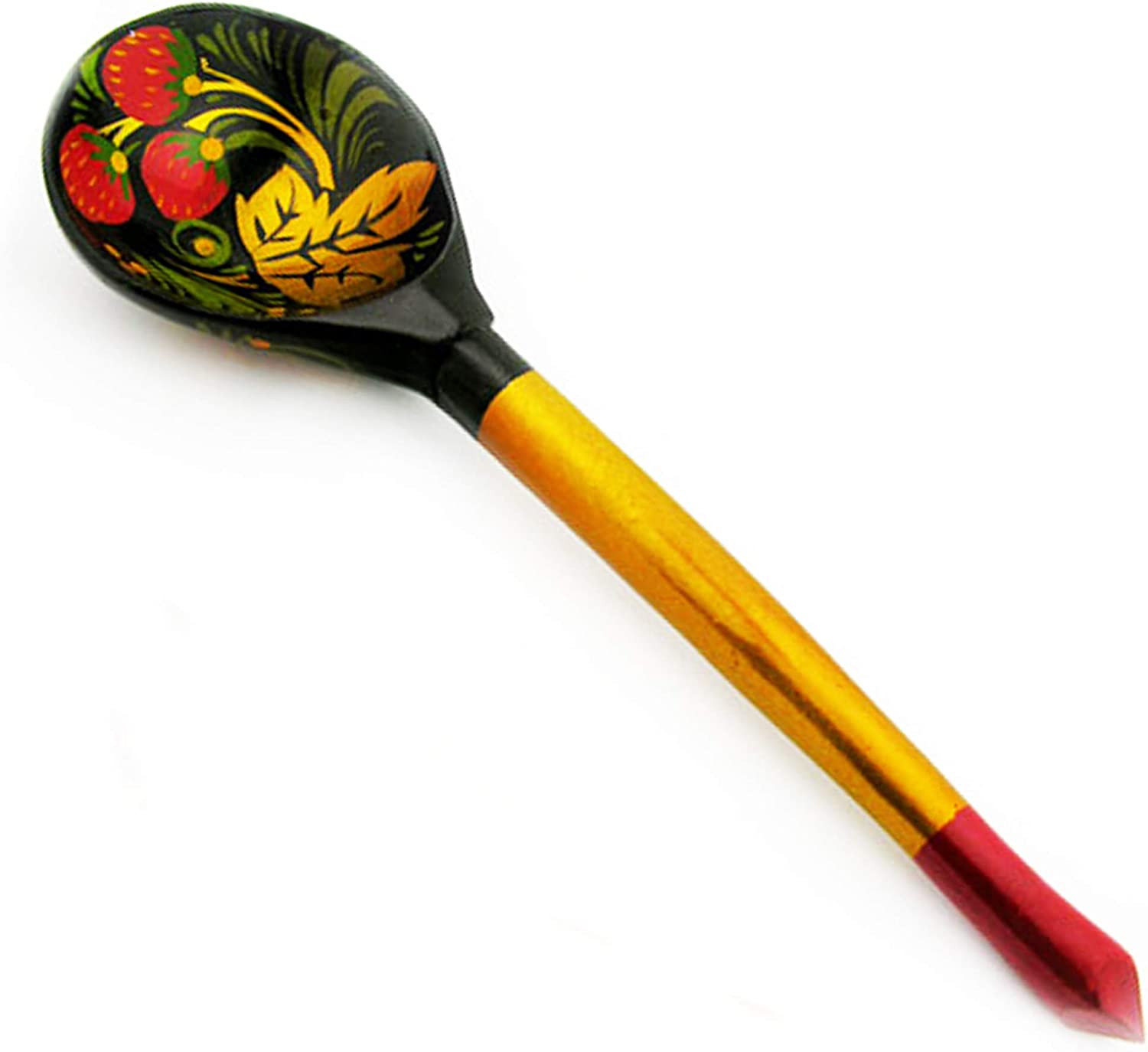 Russian Khokhloma Wooden Spoon Over item handling ☆ For Serving and Cooking Decorativ High quality