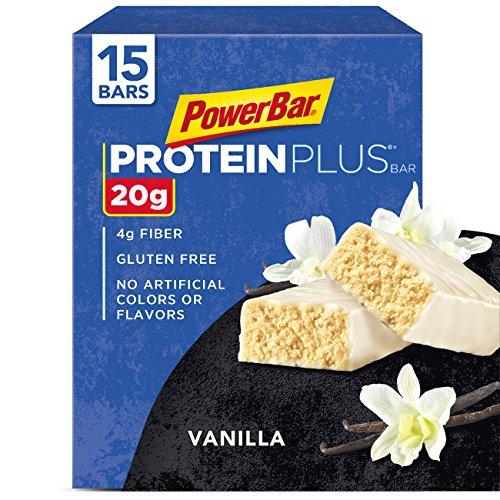 PowerBar Protein Plus Bar, Vanilla, 2.12 Ounce (Pack of 15)