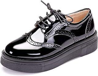c59a8acc4d5 \t Zapatos Con Cordones De Charol Para Mujer Zapatos Oxford Zapatos De  Plataforma Retro Zapatos