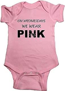 Mean Girls Baby One Piece On Wednesdays We Wear Pink Bodysuit
