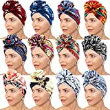 Best Turbans - Messen 12 PCS Turban Headwrap for Women Flower Review