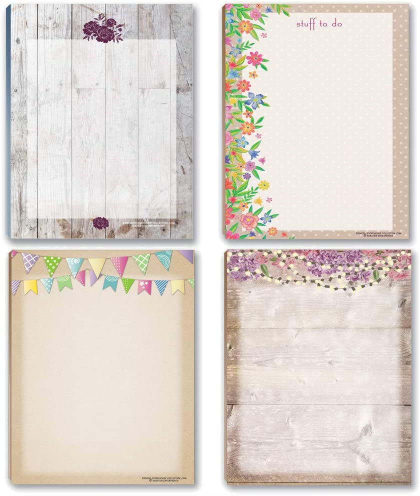 Rustic Notepads - 4 Assorted Notepds Per Sheets Pad 50 Max San Francisco Mall 61% OFF 4.25x5.