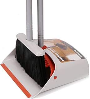 """Broom and Dustpan,Dust Pan and Broom Combo Set/Standing Upright Dustpan with 40""""/52"""" Long Handled Broom for Home Office Lobby Floor Sweeping"""