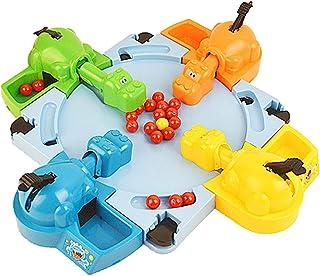 空腹のカバがビー玉を飲み込むインタラクティブな教育玩具早期教育ダブル競争ゲームキッズビー玉ゲーム