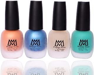 Makeup Mania Premium Nail Polish Set, Velvet Matte Nail Paint Combo of 4 Pcs, Perfect Gift for Girls and Women (MM-61), Multicolor, 300 g