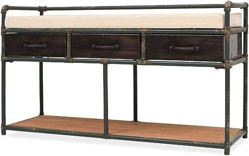 Festnight Sitzbank Aufbewahrungsbank mit Kissen 107,5 x 34,5 x 59 cm