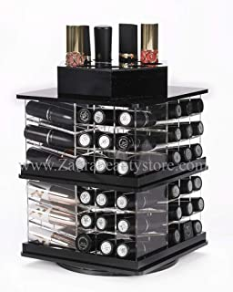 Zahra Beauty Spinning Lipstick Tower- Black- The Best Lipstick Holder- Holds 81 Lipsticks