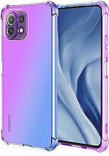 EasyLifeGo for Xiaomi Mi 11 Lite/Mi 11 Lite 5G / Mi 11 Youth Case Slim Shock Absorption Flexible TPU Soft Edge Bumper with...