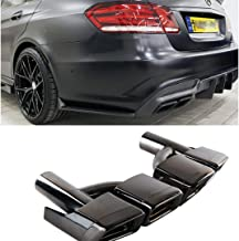 ProooAuto AMG Style Black Exhaust Muffler Tips for Mercedes Benz W212 W221 W204 W205 W218
