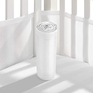 breathable cot bumper 2 sided