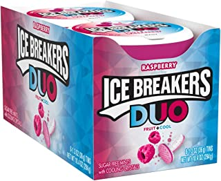 ICE BREAKERS Duo Sugar Free Mints, Raspberry, 1.3 Ounce (Pack of 8)