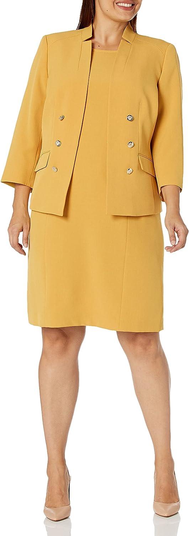Le Suit Women's Crepe 6 Buttn Jacket & Sheath Dress
