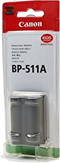 Canon BP511A 1390mAh Lithium Ion Battery Pack for Select Digital Cameras and Camcorders (Retail Package)