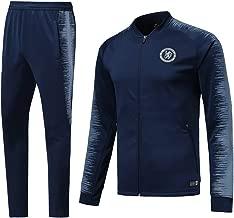 Men's Sweatshirt Set, The Blues Chelsea Football Club Long Sleeve Sportswear, Adult Football Sportswear Training Shirts