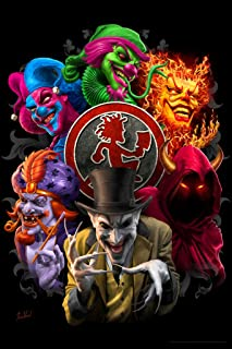 Inner Circle Group Faces Collage ICP Insane Clown Posse Music Band Tom Wood Fantasy Cool Wall Decor Art Print Poster 12x18