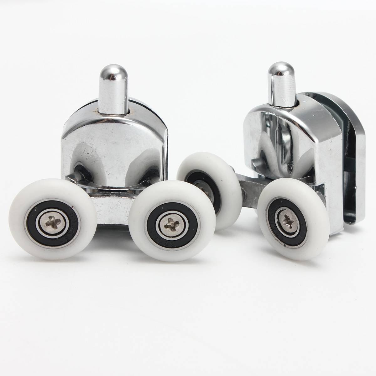 Rey DO manera 8 piezas aleación de zinc Doble inferior para mampara de ducha rueda rodillo corredores 25 mm de diámetro: Amazon.es: Bricolaje y herramientas
