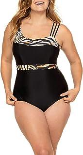 ULLA POPKEN Badeanzug Animalträger, Große Größen Costume Intero Donna