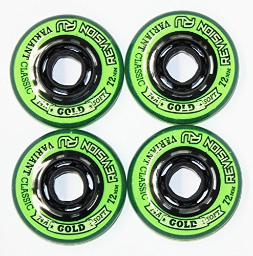 Revision 4er 8er Set Variant Classic Green Rollen 72mm/74A Inliner Skates Hockey Allround 18-N3 … (8er Set Rollen)