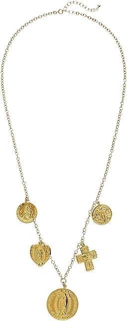 Dogeared Multi Charm Saint Necklace