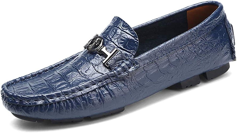 YU Müiggnger Wohnungen Herren Slip on Mokassin Handgefertigte Leder Mode Slipper Breathable Driving Schuhe Freizeitschuhe Groe Gre