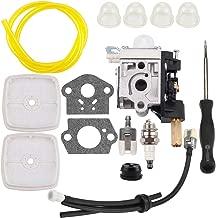 Kizut SRM 210 Carburetor for Echo SRM210 SRM211 GT200 GT201i HC150 HC151 PE200 PE201 PPF210 PPF211 Zama RB-K75 Trimmer Parts Air Filter Carb Adjustment Tool Fuel Line Repower Kit