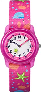 Timex Youth Kids Analog 28mm Elastic Fabric Strap |Pink|...