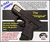 GT-5000 (6 Strips) Grip Tape for guns, cell phones, cameras, knives, tools - makes anything 'Grippy'