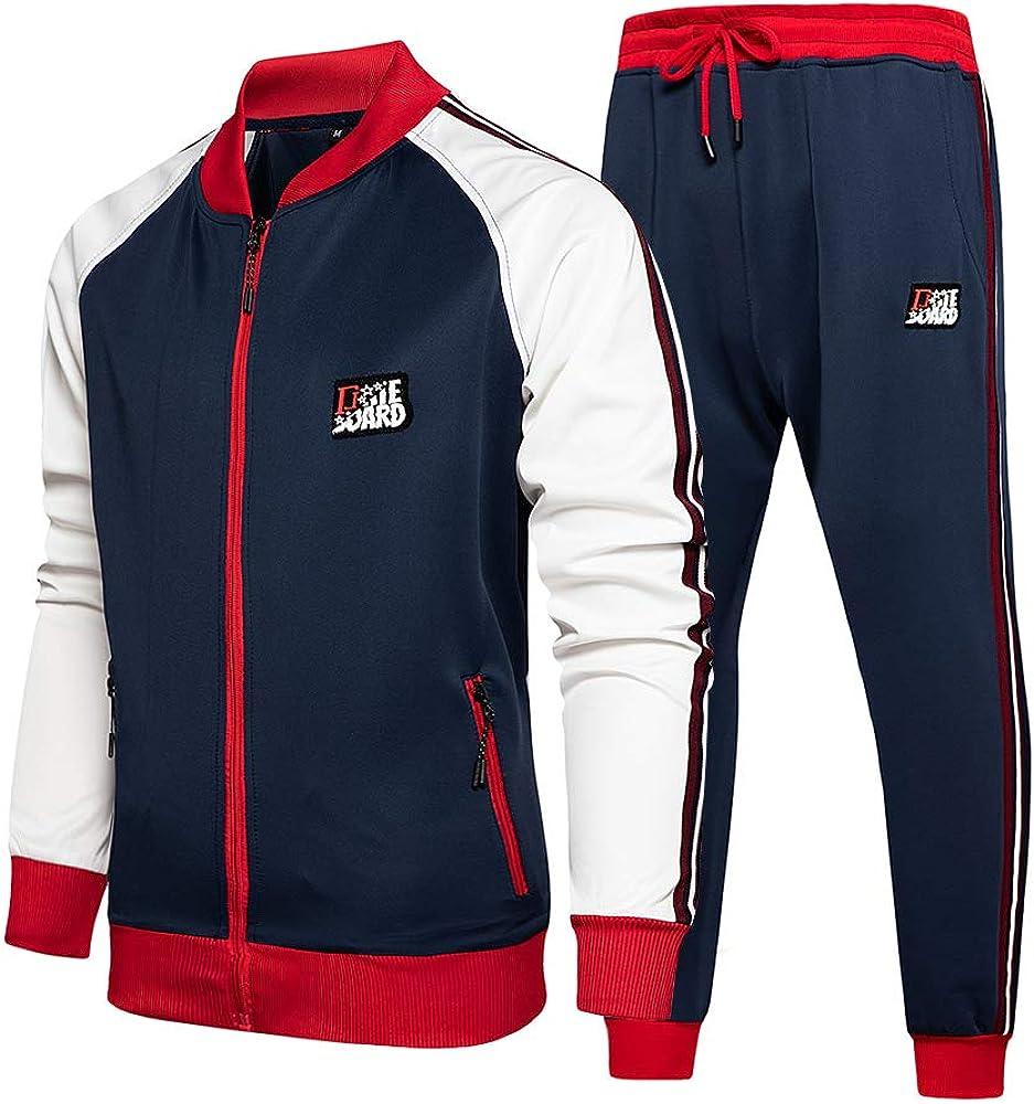 MANTORS Mens Tracksuit Full Zip Running Jogging Athletic Sports Set Casual Sweat Suit