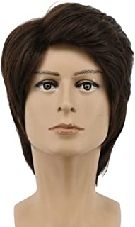 Yuehong Cosplay Wig Short Brown Hair Fashion Wigs For Men Wig Party Synthetic Costume Wig