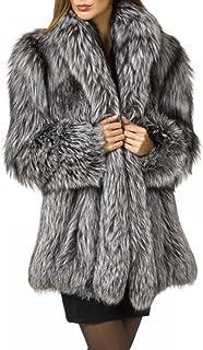 16a2e895d7 Rvxigzvi Womens Faux Fur Coat Plus Size Parka Jacket Long Trench Winter  Warm Thick Outerwear Overcoat