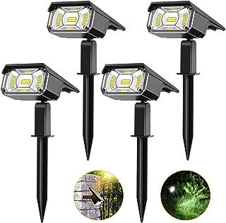 Solar Spot Lights Outdoor, PESIVI 40 LEDs Landscape Lighting Spotlights, Adjustable 2-in-1 USB & Solar Powered IP65 Waterp...