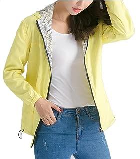 omniscient Women's Lightweight Waterproof Raincoat Quick-Drying Hooded Jacket