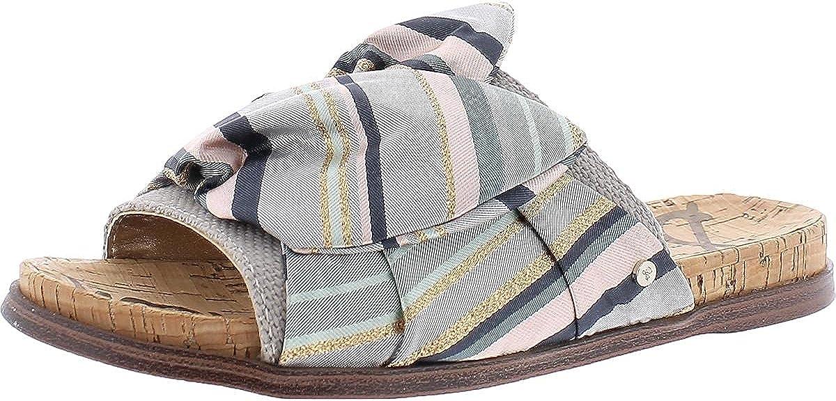 Sam Edelman Womens Heidi Striped Bow Slide Sandals