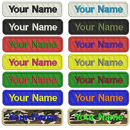 Toppa con nome personalizzabile, 2 pezzi, targhetta con numero militare, personalizzabile con logo, per borse, gilet, giacche, camicie da lavoro, multi-coloured, 4 inches x 1 inch