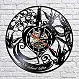Vinilo Reloj de Pared Record Tattoo Studio Vinyl Custom Order Your Design Your Logo Your Custom Image Tattoo Shop Decoración