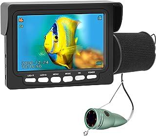 دوربین ماهیگیری یخی زیر آب ، مانیتور IPS مانیتور ANYSUN 4.3 اینچ IP68 IP68 ضد آب ماهی رنگی HD Video 1000TVL LED مادون قرمز با DVR ، دنده هدیه بیننده زیر آب برای دریاچه اوشن (15 متر / 49 فوت)