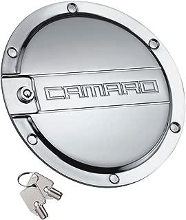 DefenderWorx CP-1006 Polished Locking Fuel Door for Chevrolet Camaro
