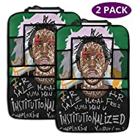 カーシートバック収納袋 Kendrick Lamar Rapper Poster あなたの車と清潔なコンパートメント環境の日常的なアイテムを保持する大容量コンパートメント、ペーパータオル、本、IPAD、飲み物、食べ物などの保管