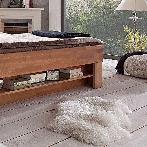 Futonbett SOFIE mit Bettkasten und Fußteilregal 140 x 200 cm - 3