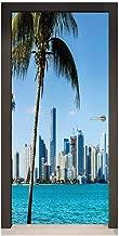 PVC Waterproof Removable Door Sticker Room Decoration Decal.30.3