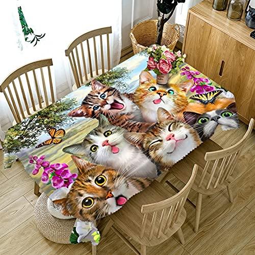 Aeici Mantel Picnic 140X220Cm, Manteles Mesa Sofa Poliéster para Hogar Comedor del Cocina, Mantel Rectángulo