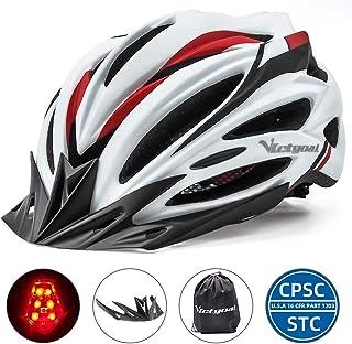 monta/ña//Carretera//Paseo Shinmax Casco de Bicicleta con Casco de Bicicleta Certificado CE y Casco de Seguridad Trasero Ligero y Ajustable para Hombres y Mujeres Adultos