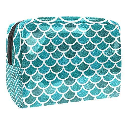 TIZORAX Sac cosmétique en PVC Bleu
