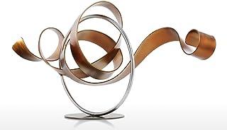 Tooarts Wriggle Sculpture Moderne Sculpture Abstraite Sculpture En Métal Fer Décor À La Maison Intérieur-Extérieur Décor
