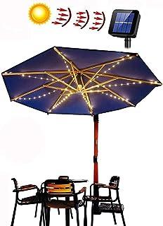 LED solcellsljusslinga för parasoll, solparasoll belysning sol, LED solparasoll ljuskedja solskärm belysning dekoration fö...