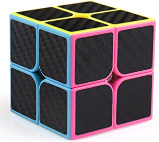 Coogam Zcube Carbon Fiber Cube 2x2 Speed Cube Puzzle Toy Magic Cube 2x2x2 for Kid