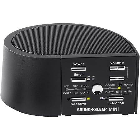 ホワイトノイズ マシン ドーミン 48種 癒し音 超高周波帯域音再生 スピーカー 快眠グッズ (ブラック)